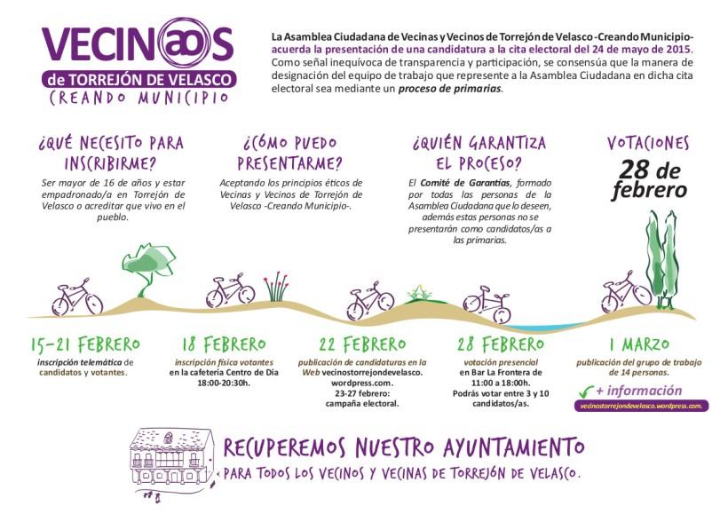 Primarias Vecinas y Vecinos Torrejón de Velasco - Creando municipio