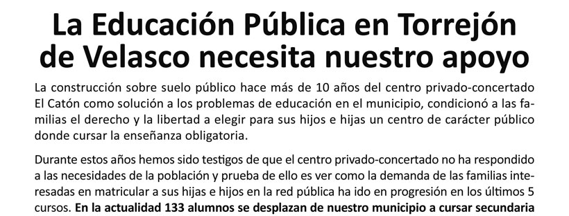 Mesa informativa Educación Pública con CIDESPU