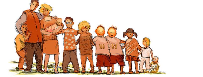Familia numerosa - Rafael Edwards